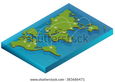 World global map with borders and infographic elements vector world map with nodes linked by lines world map 3d for infographics elements design gumiabroncs Image collections