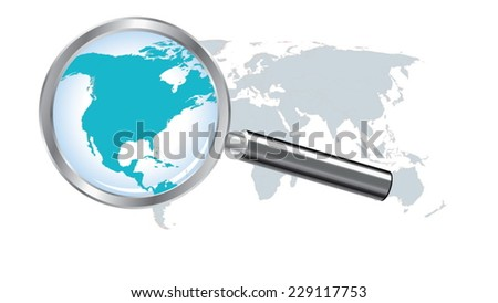 North america continent descargue grficos y vectores gratis world map with north america magnified by loupe gumiabroncs Gallery