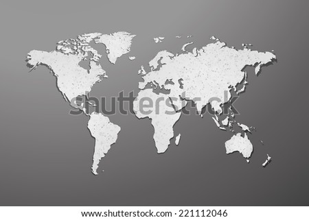 world map with paper texture