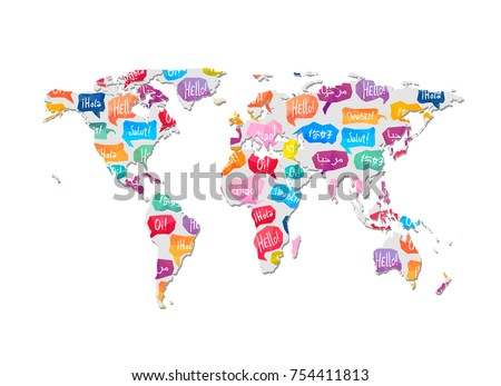 world map with pattern of