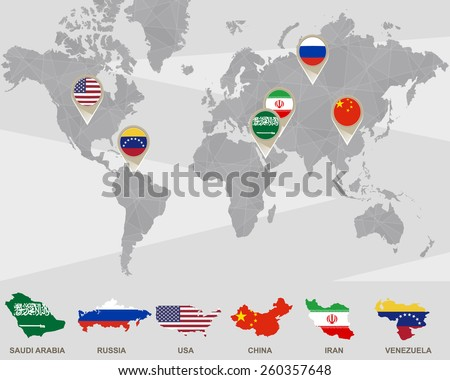 world map with saudi arabia