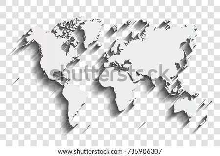 Drop shadow world map vector download free vector art stock world map with shadow on a transparent background gumiabroncs Image collections