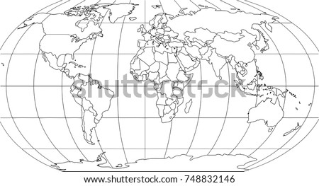 State outlines europe download free vector art stock graphics world map with smoothed country borders thin black outline on white background gumiabroncs Gallery