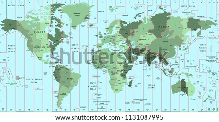 Time Zone Map Vector Download Free Vector Art Stock Graphics Images