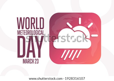 World Meteorological Day. March 23. Holiday concept. Template for background, banner, card, poster with text inscription. Vector EPS10 illustration Foto stock ©