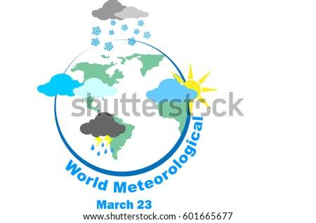 world meteorological day vector