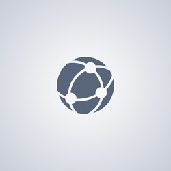 World network icon, global network icon