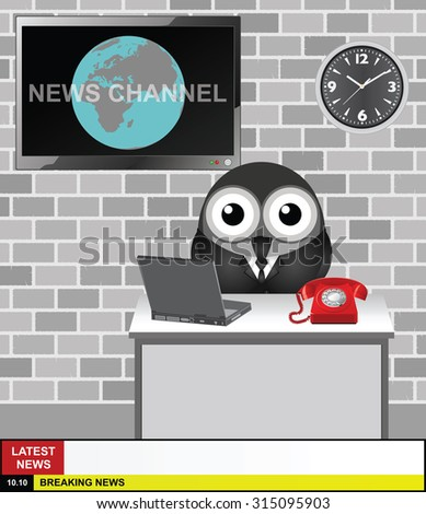 world news channel presenter