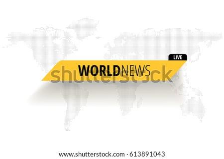 world news live on world map
