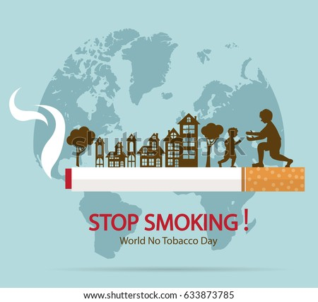 World No Tobacco Day Concept Stop Smoking.vector illustration