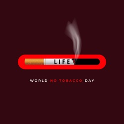 World No Tobacco Day. No Smoking Day, Banner for campaign stop smoking.