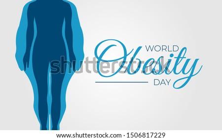 World Obesity Day Background Illustration