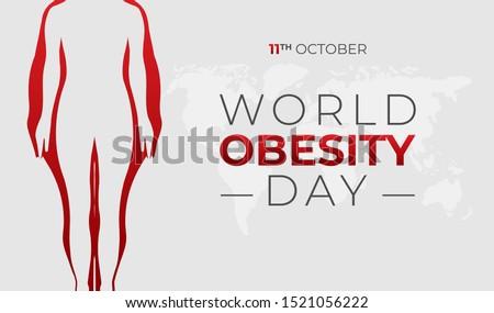 World Obesity Day Background Illustration Banner