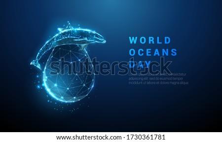 world ocean's day template