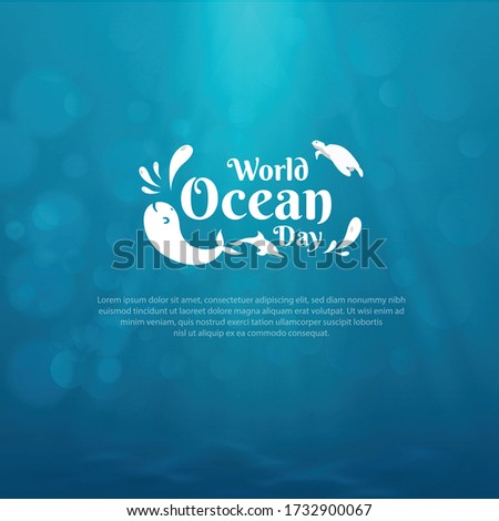 world oceans day design with