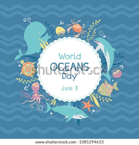 world oceans day sea animals