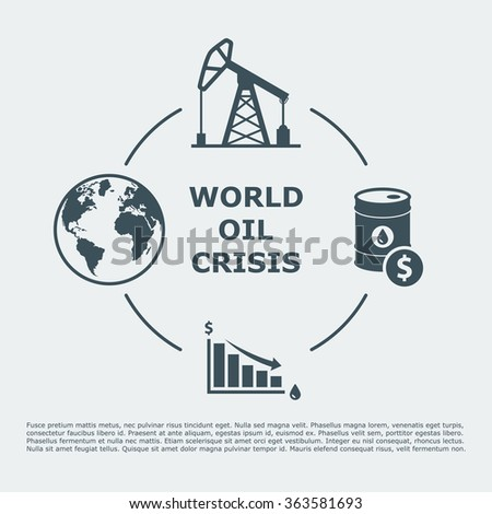 world oil crisis infographic