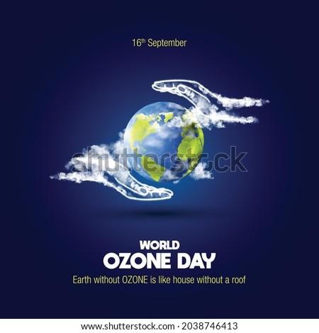 World Ozone Day creative concept