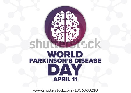 World Parkinson's Disease Day. April 11. Holiday concept. Template for background, banner, card, poster with text inscription. Vector EPS10 illustration