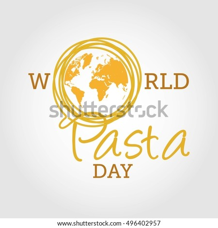 world pasta day vector