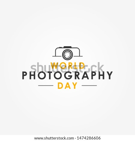 World Photography Day Vector Design Template