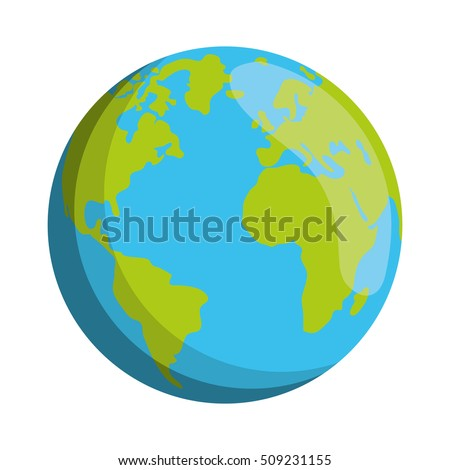 world planet earth isolated