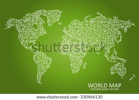world    polygon mesh map
