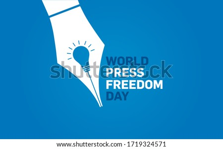 World press freedom day concept vector illustration. World Press Freedom Day or just World Press Day to raise awareness of the importance of freedom of the press.