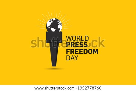 World press freedom day concept vector illustration. World Press Freedom Day or World Press Day to raise awareness of the importance of freedom of the press. End Impunity for Crimes against Journalism