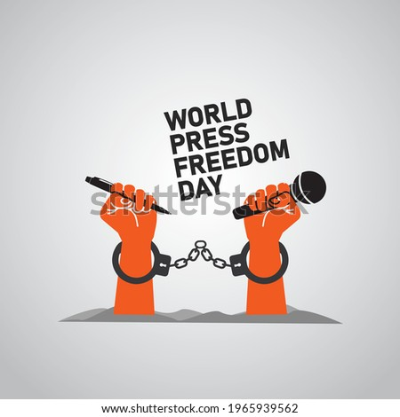 World press freedom day concept. World Press Freedom Day or World Press Day to raise awareness of the importance of freedom of the press. End Impunity for Crimes against Journalism.