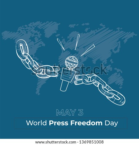 World Press Freedom Day - vector illustration