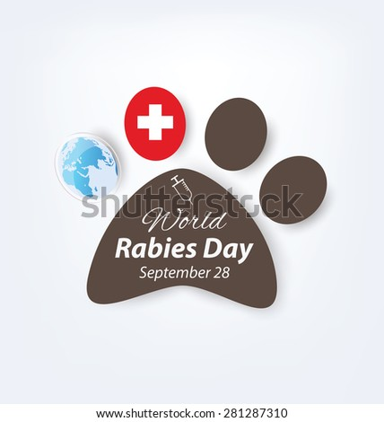 world rabies day concept