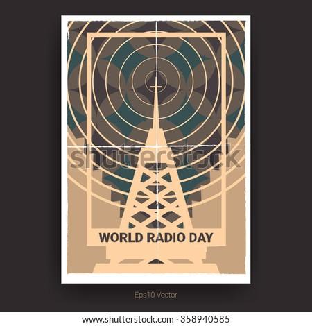 world radio day poster design