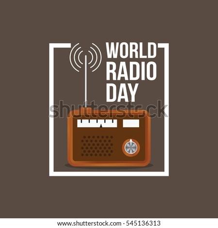 World Radio Day Vector Illustration.