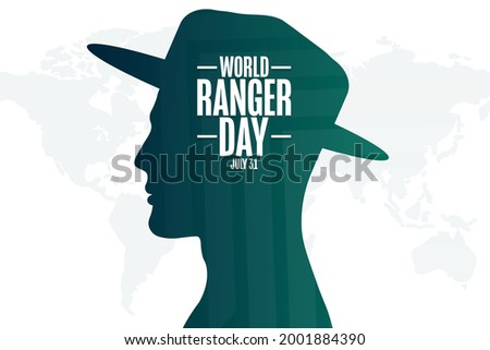 World Ranger Day. July 31. Holiday concept. Template for background, banner, card, poster with text inscription. Vector EPS10 illustration Stock photo ©