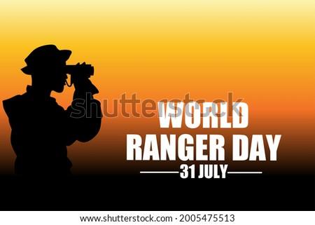 World ranger day 31 July, vector illustration. Stock photo ©