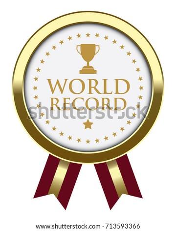 world record badge