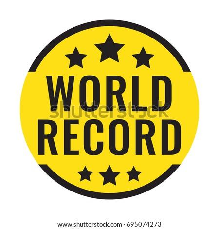 world record badge  icon  logo