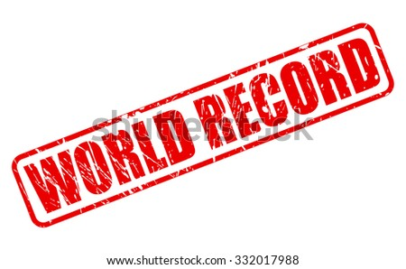 world record red stamp text on
