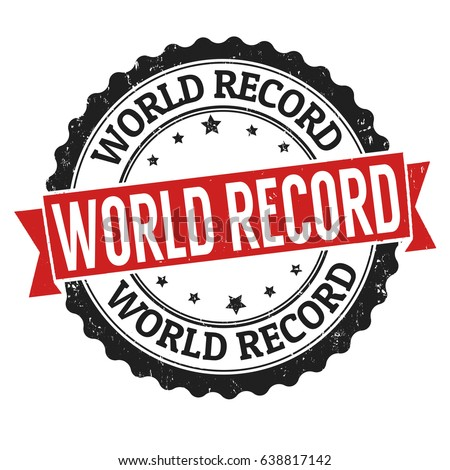 world record sign or stamp on