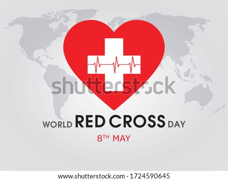 World red cross day, 8th may concept with vector elements.
