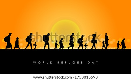 World Refugee Day. Concept of social event. 20 June-vector Stockfoto ©