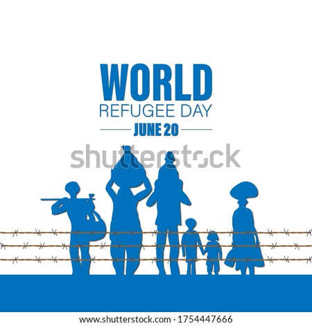 world refugee day concept of