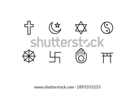 World  religion icon design conncept