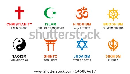 world religion symbols colored. ...