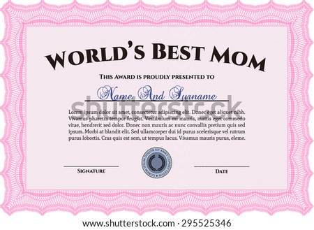 world's best mom award complex