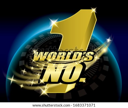 world;s number one, No.1 logo concept design vector. Сток-фото ©