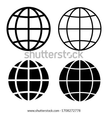 world set international earth globe icon vector illustration