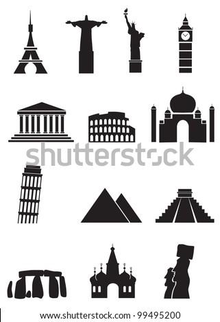 world sights icons