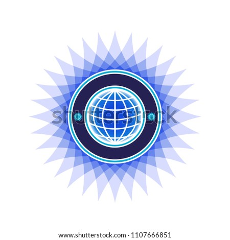 world sign logo icon, quality control icon - premium quality world-class stamp. Approved sertified mark. Certified seal symbol. Isolated sketch  for creating a logo.